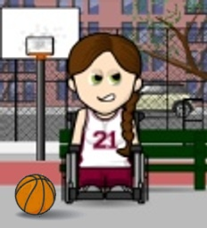 My wheelchair basketball WeeMee avatar